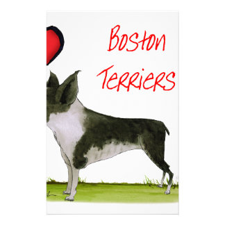we luv boston terriers from tony fernandes personalized stationery