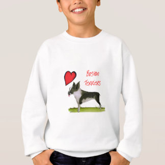 we luv boston terriers from tony fernandes sweatshirt