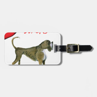 we luv boxers from tony fernandes luggage tag