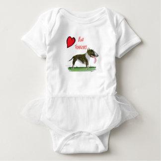 we luv bull terriers from tony fernandes baby bodysuit