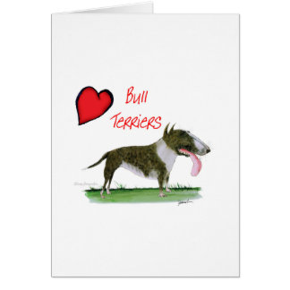 we luv bull terriers from tony fernandes card