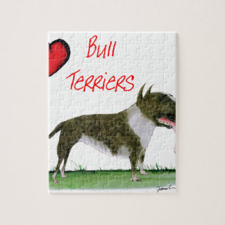 we luv bull terriers from tony fernandes jigsaw puzzle