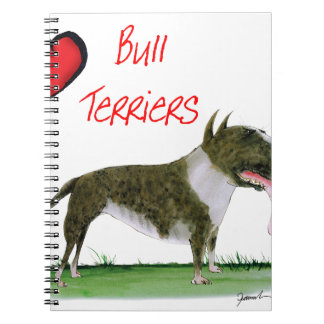 we luv bull terriers from tony fernandes notebooks