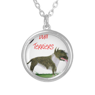 we luv bull terriers from tony fernandes silver plated necklace