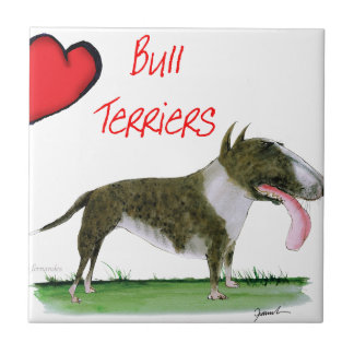 we luv bull terriers from tony fernandes tiles