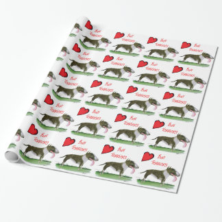 we luv bull terriers from tony fernandes wrapping paper