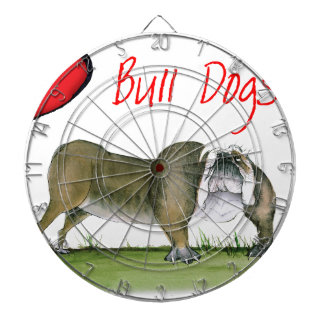 we luv bulldogs from tony fernandes dartboard
