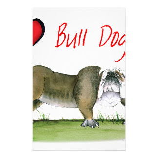 we luv bulldogs from tony fernandes stationery paper