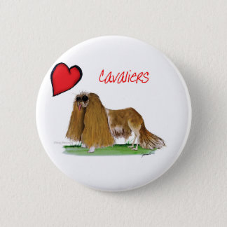 we luv cavaliers from tony fernandes 2 inch round button