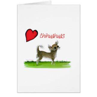 we luv chihuahuas from tony fernandes card