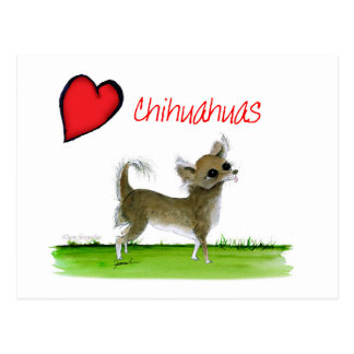 we luv chihuahuas from tony fernandes postcard