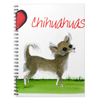 we luv chihuahuas from tony fernandes spiral notebook