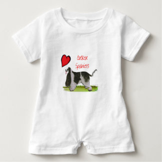 we luv cocker spaniels from tony fernandes baby romper