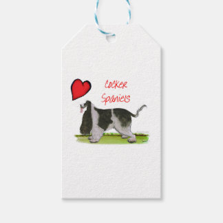 we luv cocker spaniels from tony fernandes gift tags