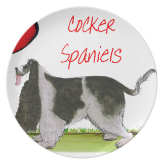 we luv cocker spaniels from tony fernandes plate