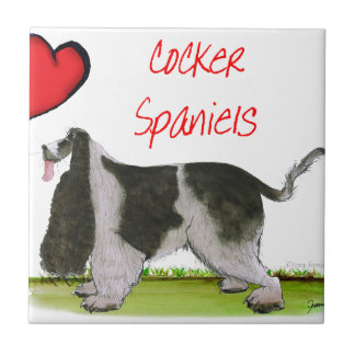we luv cocker spaniels from tony fernandes tile