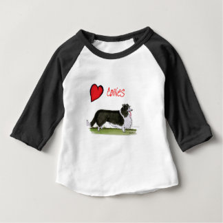 we luv collies from tony fernandes baby T-Shirt