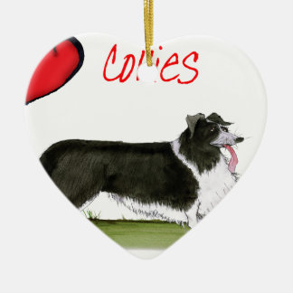 we luv collies from tony fernandes ceramic ornament