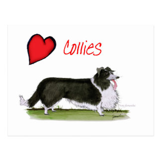 we luv collies from tony fernandes postcard