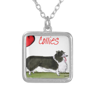 we luv collies from tony fernandes silver plated necklace