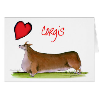 we luv corgis from Tony Fernandes Card