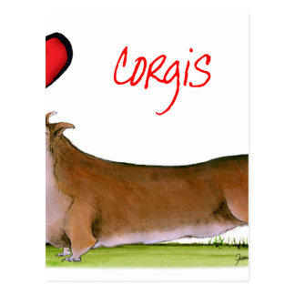 we luv corgis from Tony Fernandes Postcard
