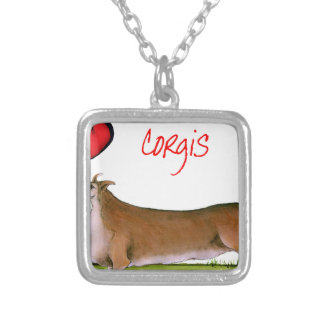 we luv corgis from Tony Fernandes Silver Plated Necklace