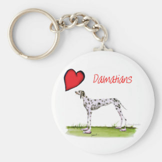 we luv dalmatians from Tony Fernandes Basic Round Button Keychain