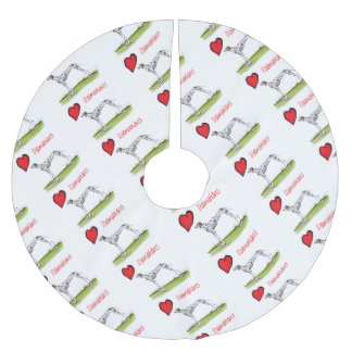 we luv dalmatians from Tony Fernandes Brushed Polyester Tree Skirt