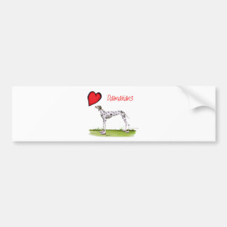we luv dalmatians from Tony Fernandes Bumper Sticker