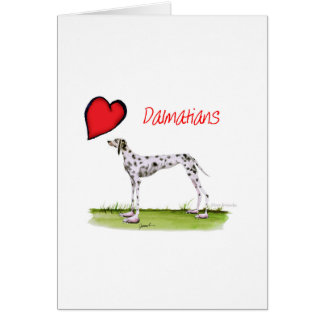 we luv dalmatians from Tony Fernandes Card