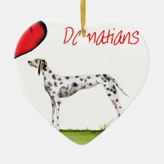 we luv dalmatians from Tony Fernandes Ceramic Ornament