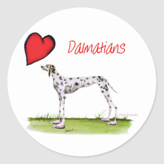 we luv dalmatians from Tony Fernandes Classic Round Sticker