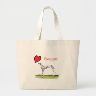 we luv dalmatians from Tony Fernandes Large Tote Bag