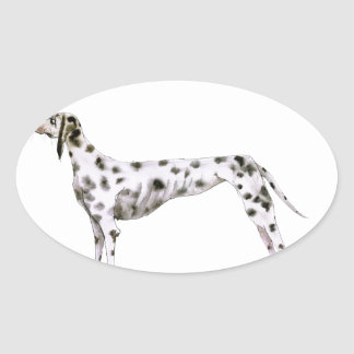 we luv dalmatians from Tony Fernandes Oval Sticker