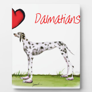 we luv dalmatians from Tony Fernandes Plaque
