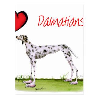 we luv dalmatians from Tony Fernandes Postcard