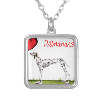 we luv dalmatians from Tony Fernandes Silver Plated Necklace