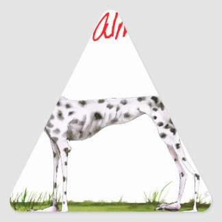 we luv dalmatians from Tony Fernandes Triangle Sticker