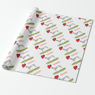 we luv dalmatians from Tony Fernandes Wrapping Paper