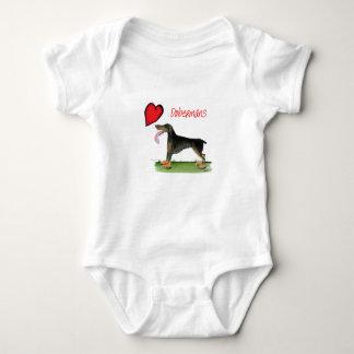we luv dobermans from Tony Fernandes Baby Bodysuit