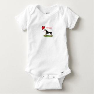 we luv dobermans from Tony Fernandes Baby Onesie