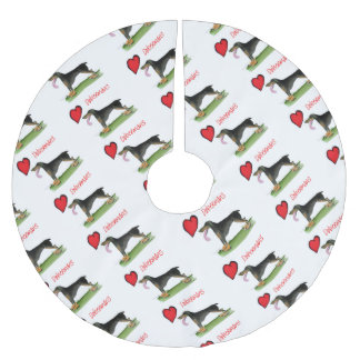 we luv dobermans from Tony Fernandes Brushed Polyester Tree Skirt
