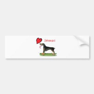 we luv dobermans from Tony Fernandes Bumper Sticker