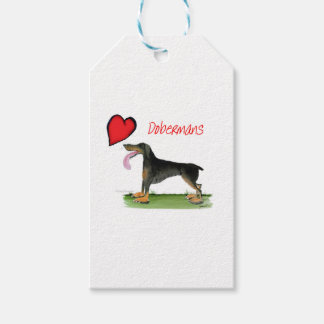 we luv dobermans from Tony Fernandes Gift Tags