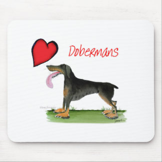 we luv dobermans from Tony Fernandes Mouse Pad