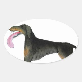 we luv dobermans from Tony Fernandes Oval Sticker