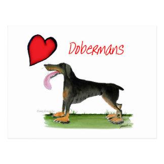 we luv dobermans from Tony Fernandes Postcard