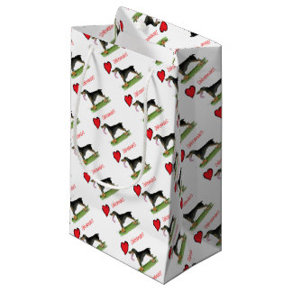 we luv dobermans from Tony Fernandes Small Gift Bag