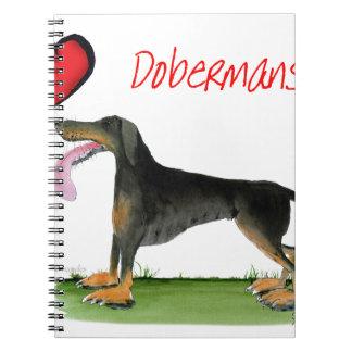 we luv dobermans from Tony Fernandes Spiral Notebook